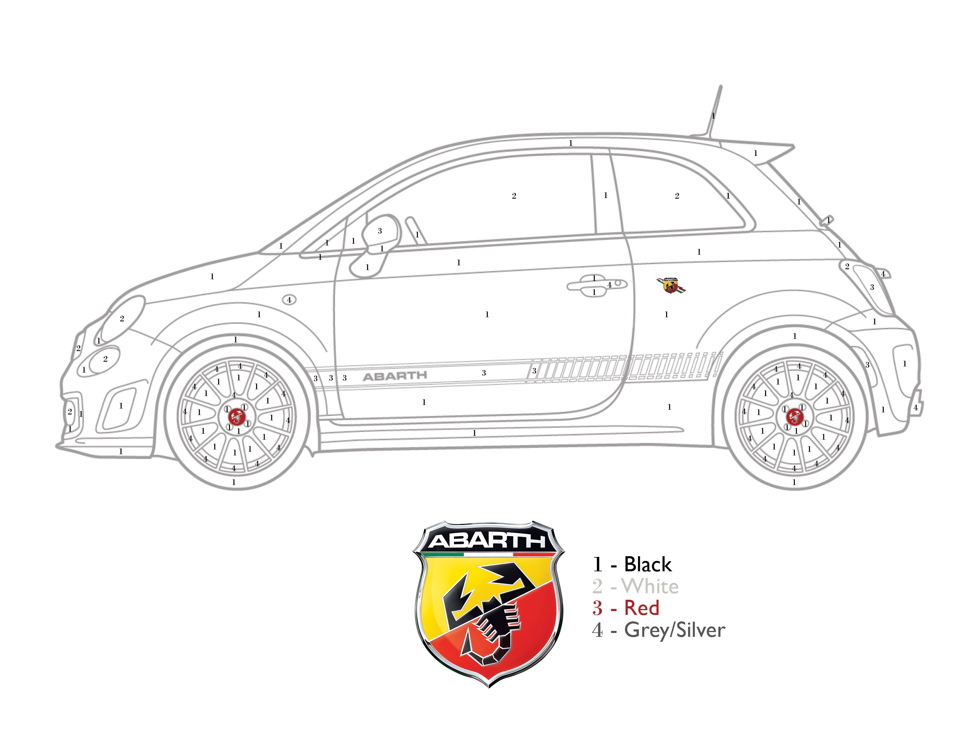 Get Crafty Color By Numbers Fiat 500 Abarth Fiat 500 Fiat Fiat 500c