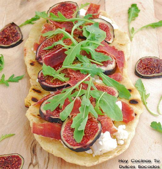 Hoy Cocinas Tu Pizza A La Plancha Con Queso De Cabra Higos Y