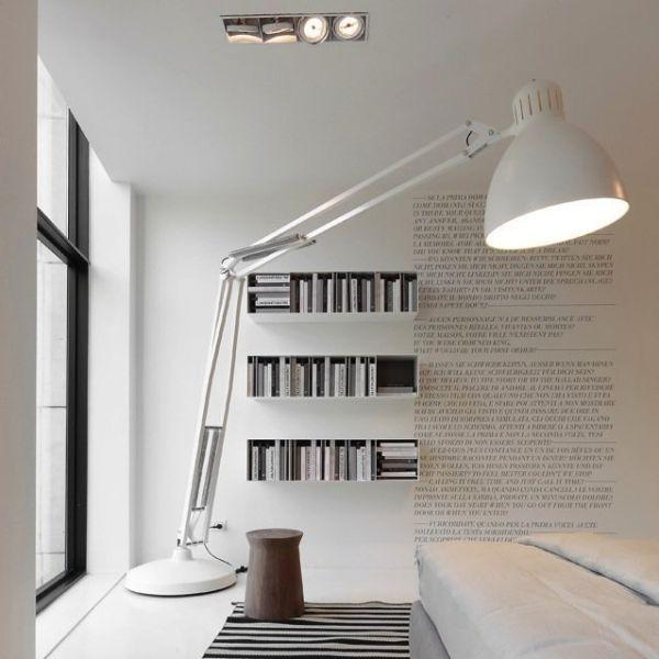 Think Big When You Choose The Floor Lamp Large Floor Lamp Floor Lamp Design House Interior
