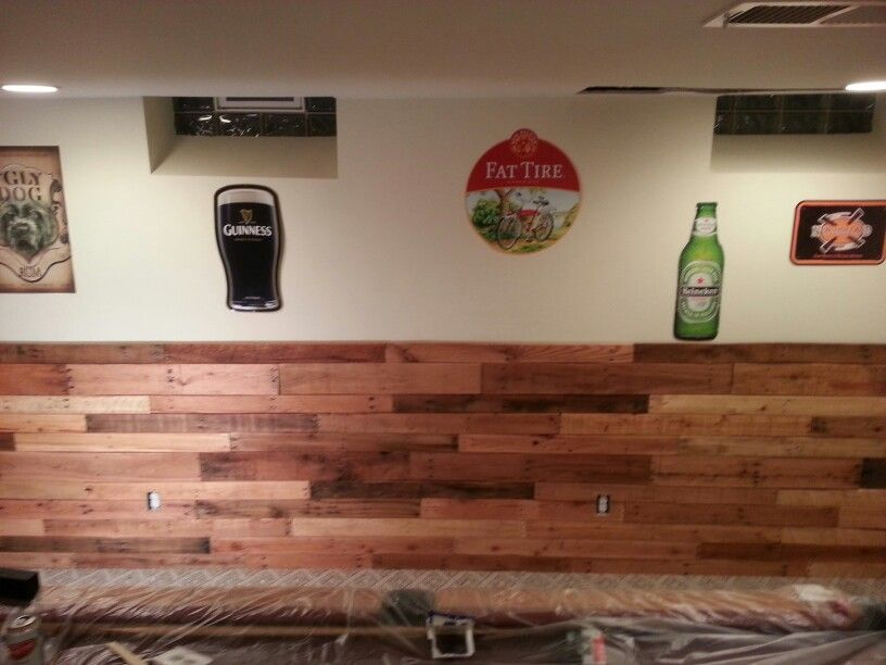 Pallet Wainscoting In 2019 Wooden Pallet Crafts Pallet