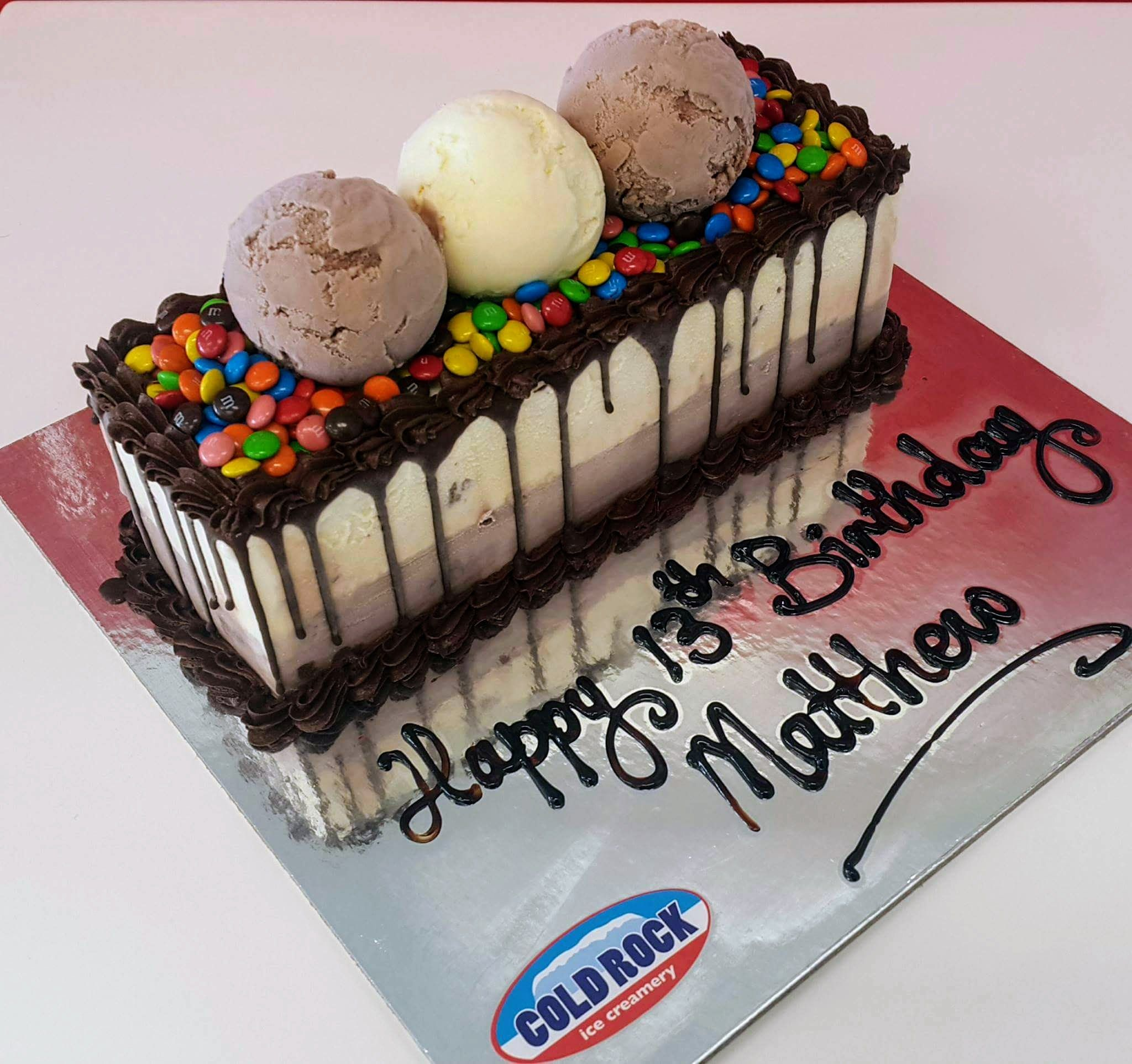 The Best Birthday Cake Is A Cold Rock Ice Cream Cake Adesa Cakes
