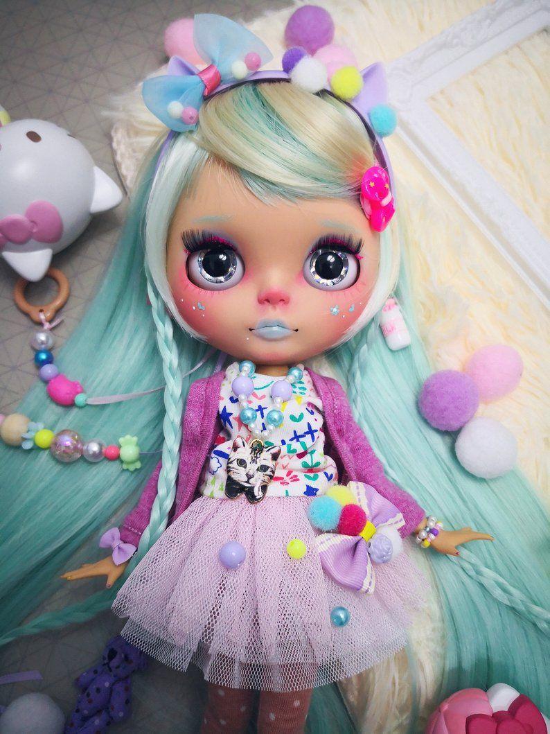 Custom blythe doll for adoption by patrickcustom blythe