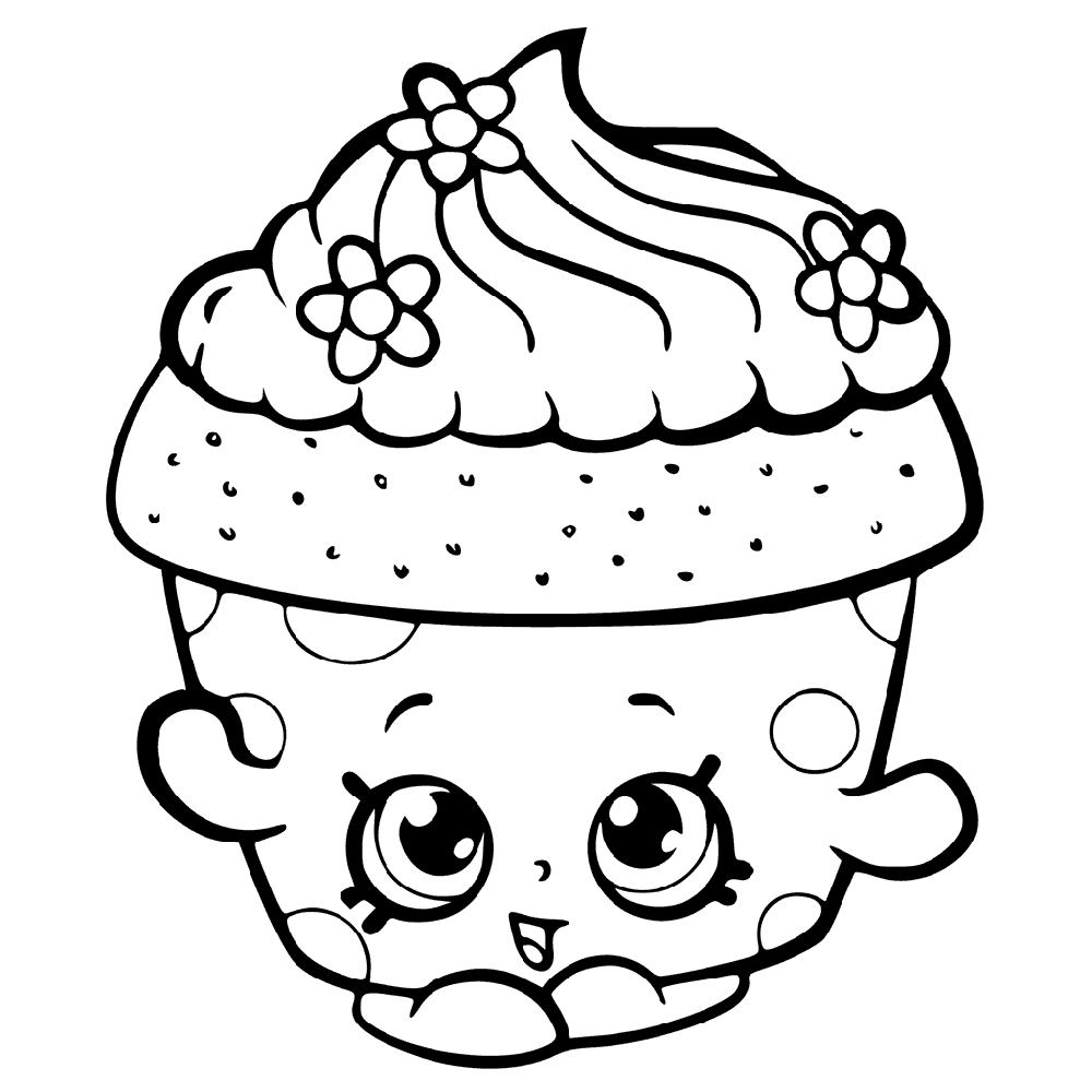 Shopkins Coloring Book Worksheets Educative Printable Shopkin Coloring Pages Shopkins Colouring Book Cupcake Coloring Pages
