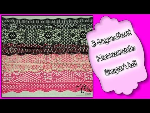 3 Ingredient Homemade SugarVeil - YouTube   BakingSavvy Never again buy expensive SugarVeil once you see how easy it is to make a homemade versions that is durable, flexible, and above all Budget Friendly.