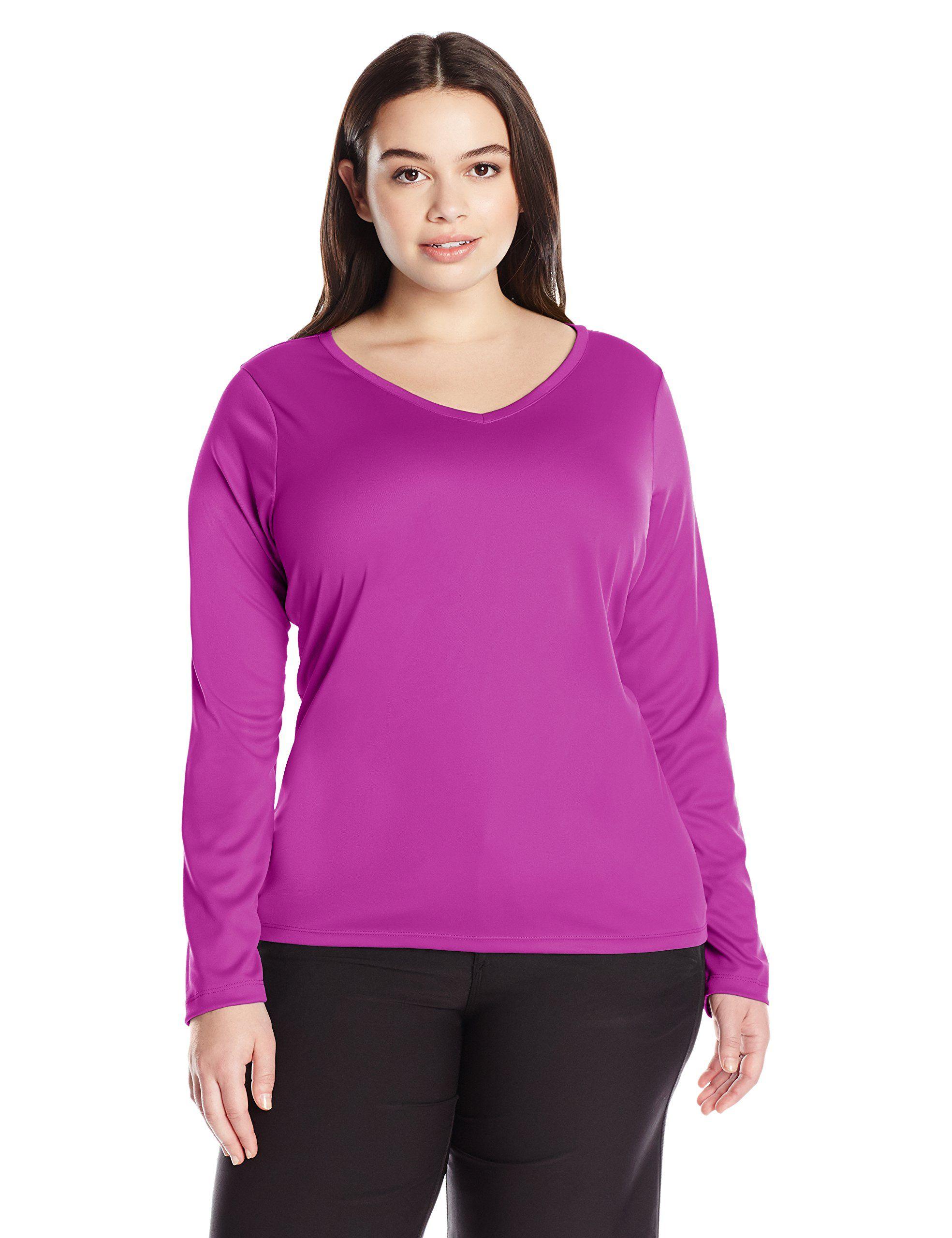e400acb7c5d Kanu Surf Women s Plus Size Solid Upf 50+ Long Sleeve Swim Shirt Rashguard