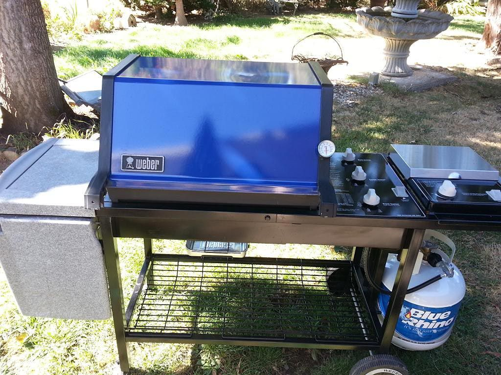 Blue Weber gas grill | Weber Grills | Pinterest | Grilling and Grills
