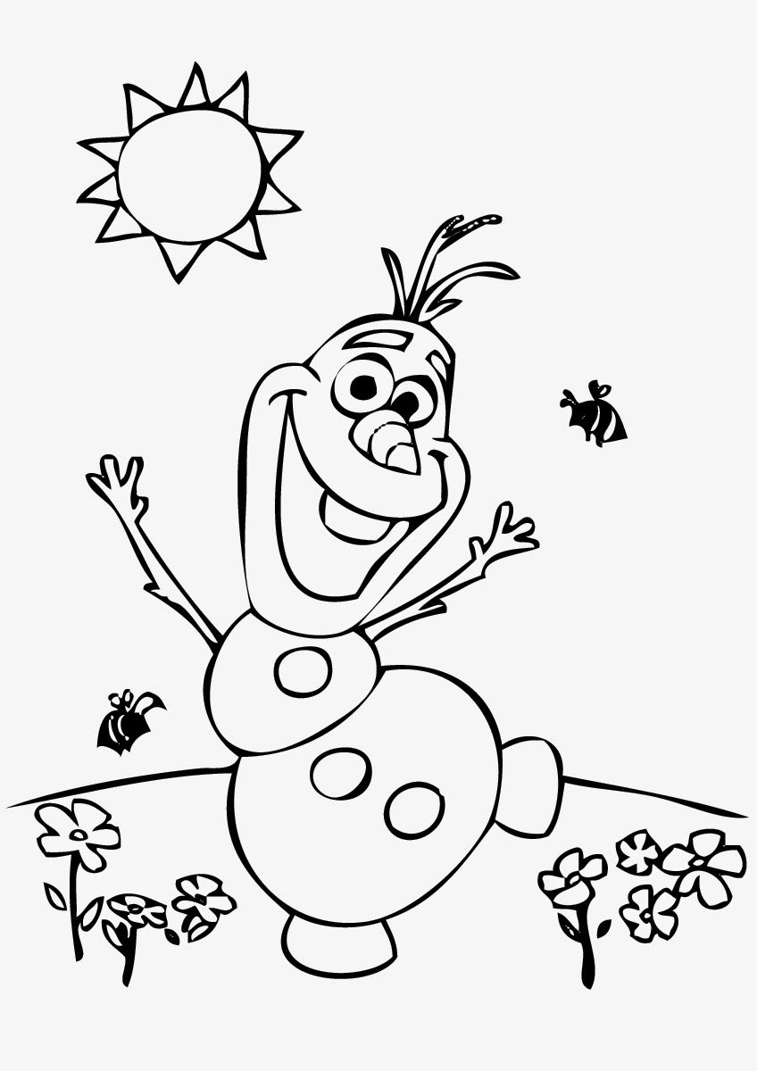 Printable Coloring Pages Frozen Olaf