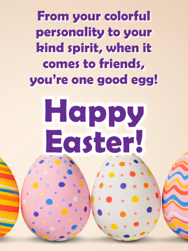 One Good Egg Happy Easter Card For Friend Birthday Greeting Cards By Davia Fun To Be One Happy Easter Card Happy Easter Funny