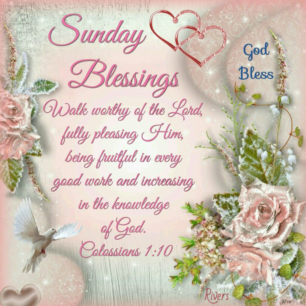 Sunday Blessings Colossians 112 Daily Blessings Pinterest