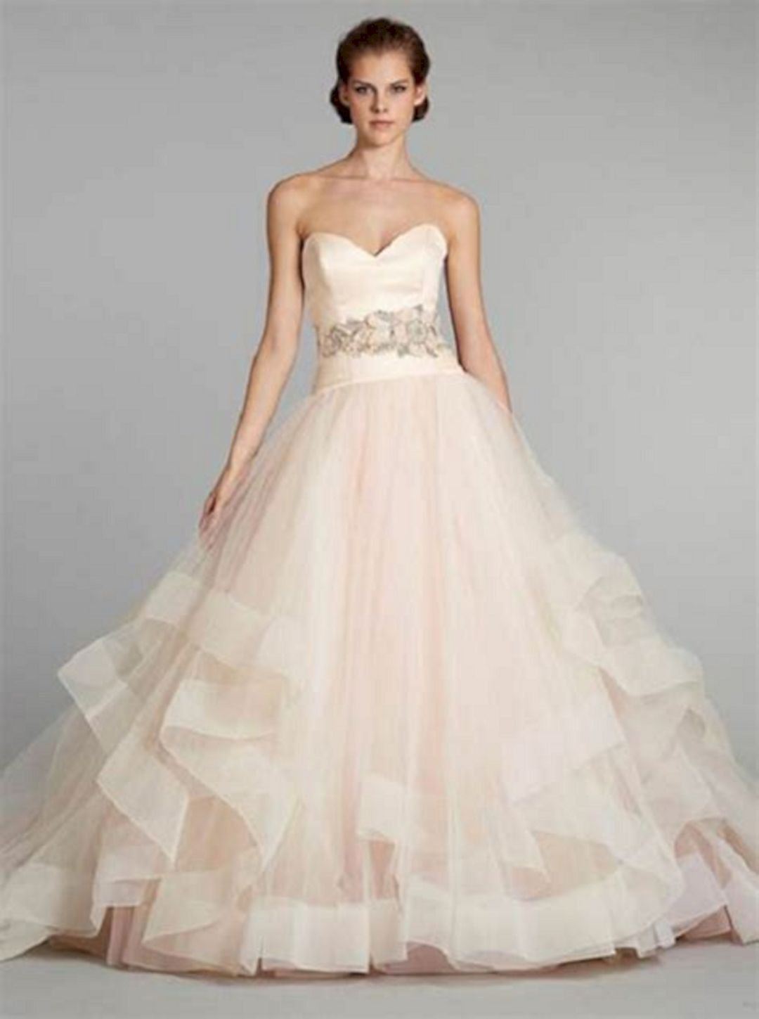 Wedding dress with color  Lovely Pink Wedding Gown Color Ideas For Beautiful Bride  Best