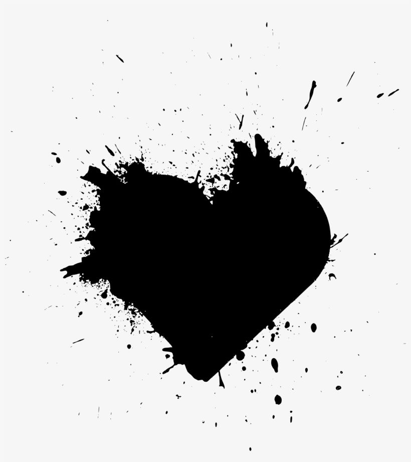 Download Free Download Black Paint Splash Heart For Free Nicepng Provides Large Related Hd Transparent Png Images Paint Splash Black Paint Painting
