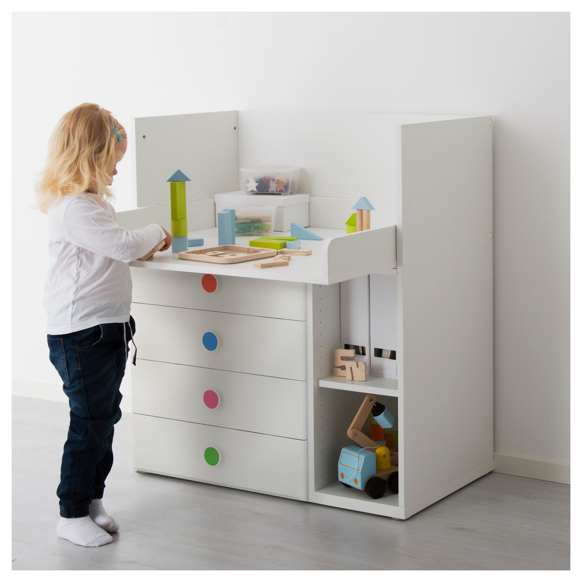 f5b0ef682972 IKEA - STUVA / FÖLJA Changing table with 4 drawers white in 2019 ...