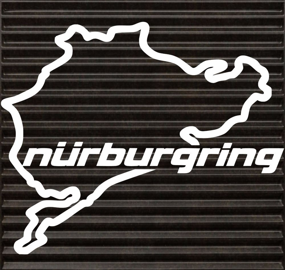 Nurburgring Decal Funny JDM BMW Honda VW Race Car Tablet Track - Race car decals