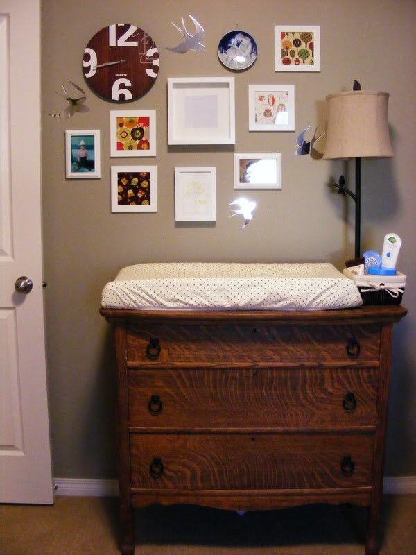 Vintage Dresser Change Table Hunter S Nursery Woodland Theme