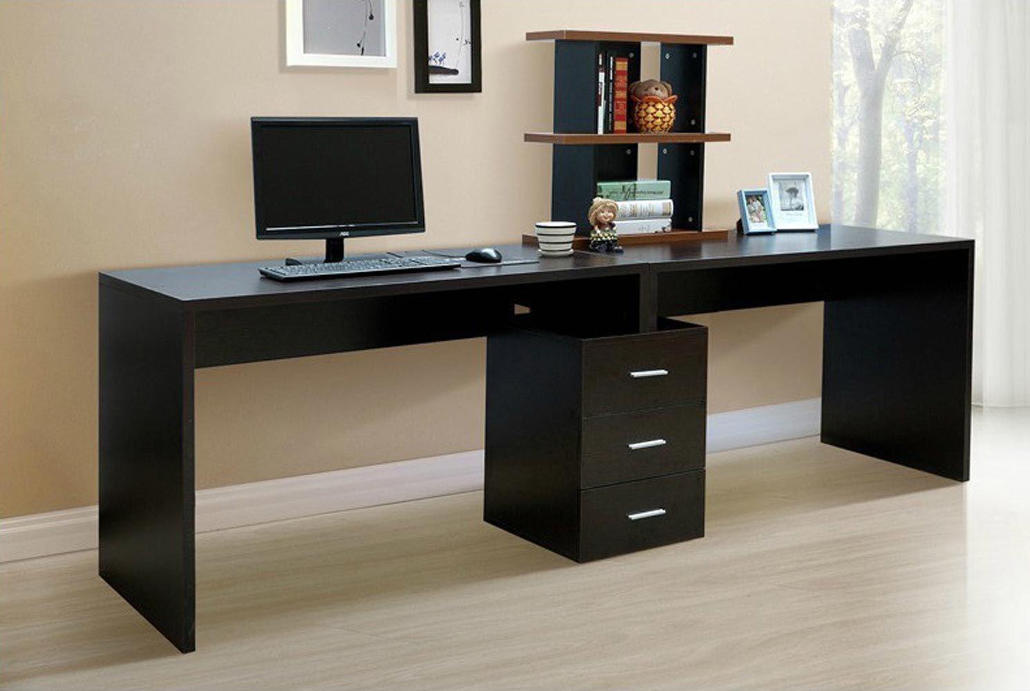 modern minimalist office computer. Black Minimalist Modern Desktop Computer Desk Table Office