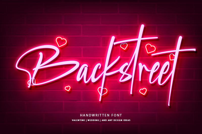 Backstreet Font in 2020 Handwritten fonts