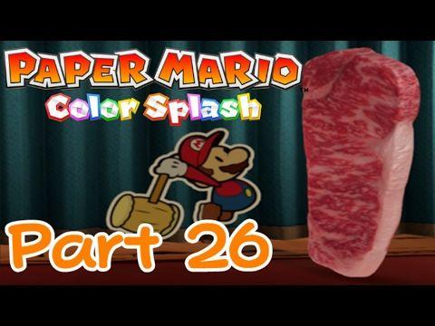 Beat The Meat Paper Mario Color Splash 100 Part 26 Paper