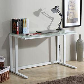 Kafka Compact Study Table (White Finish)