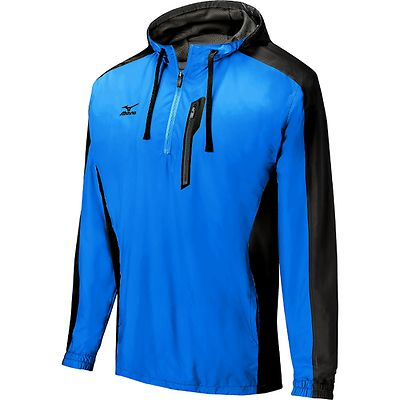 Baseball Jackets 181335: Mizuno Pro Adult 1/4 Zip Windproof Hoodie ...