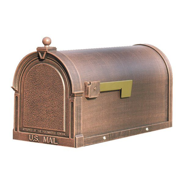 Berkshire Post Mounted Mailbox In 2021 Mounted Mailbox Copper Mailbox Post Mount