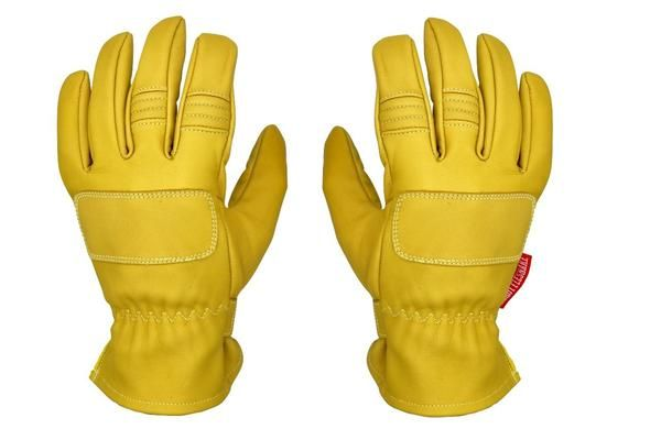 Guantes Vintage de Cuero con Kevlar para Moto Amarillo Mostaza † THROTTLESNAKE - PIT VIPER † Mustard Yellow Old School Motorcycle Leather & Kevlar Racing Gloves (M) #mustardyellow