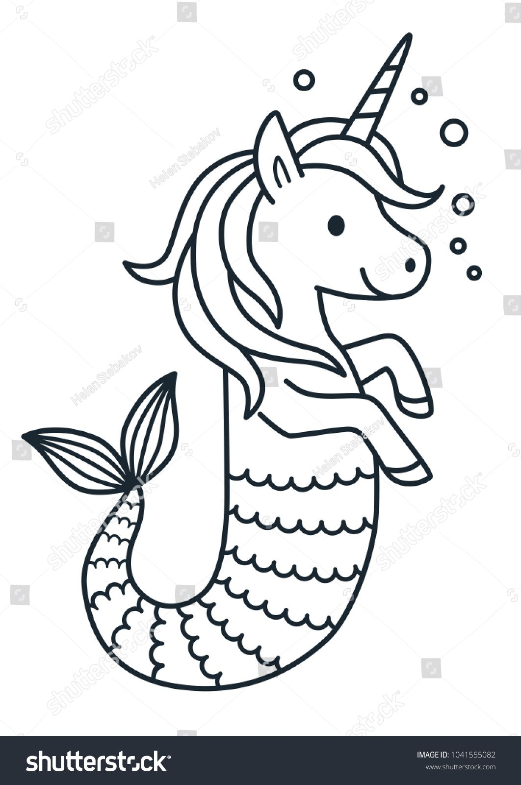 Image Result For Colored Pages Small Unicorn With Images