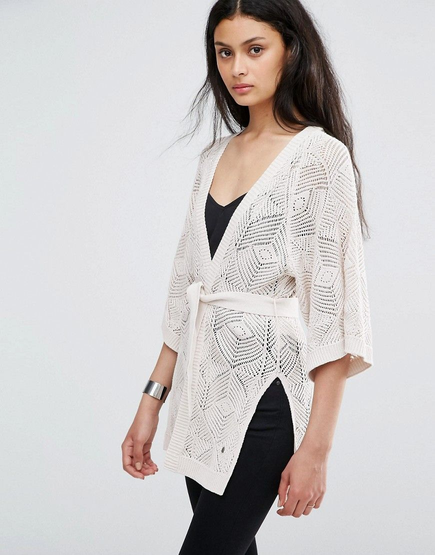 Only Loose Weave Longline Kimono Cardigan   AW16   Pinterest ...