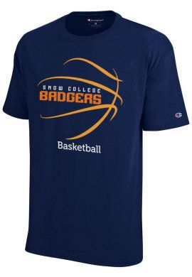 0ced028ce935 basketball+spirit+shirts | Product: Snow College Badgers Basketball T-Shirt