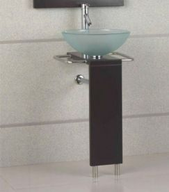 17 Inch Modern Bathroom Vanity With Frosted Gl Vessel