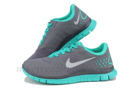 Nike Free 4.0 V2 Mens Anthracite Reflective Silver New Green
