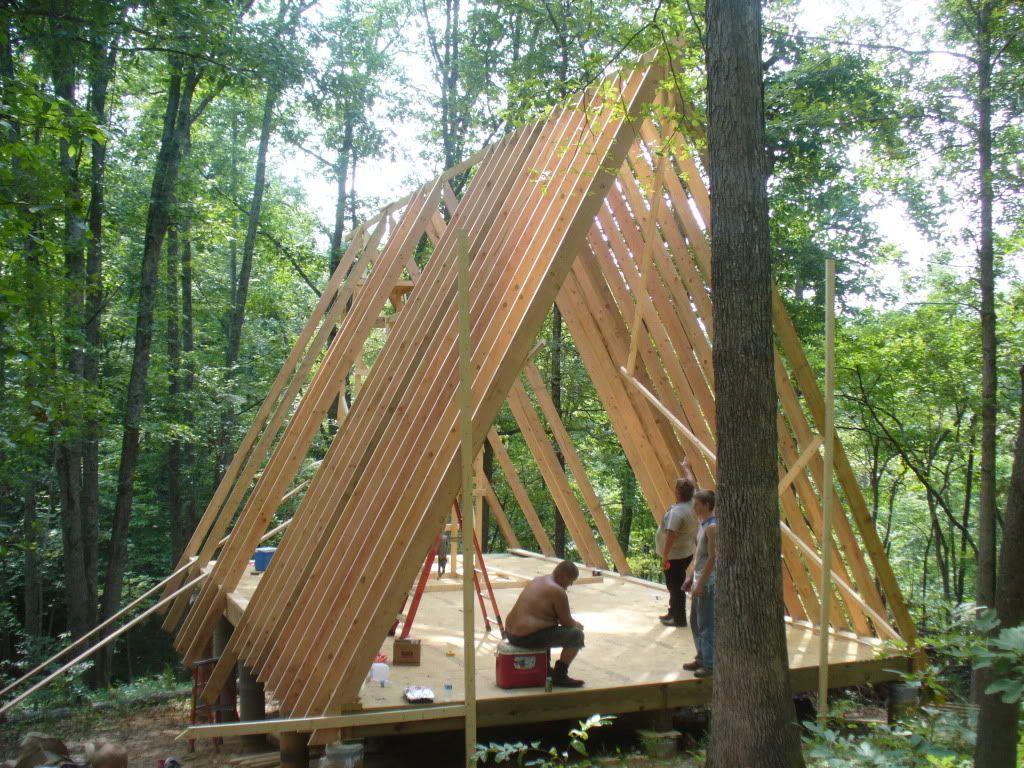 framing a-frame cabin | Dacha ideas | Pinterest