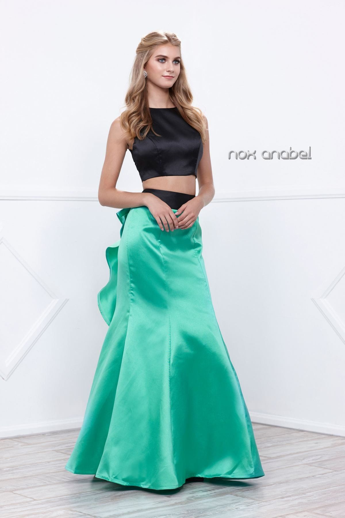cc4e138f1d1e Long Two-Piece Mermaid Dress by Nox Anabel 8292 | Prom/Formal ...