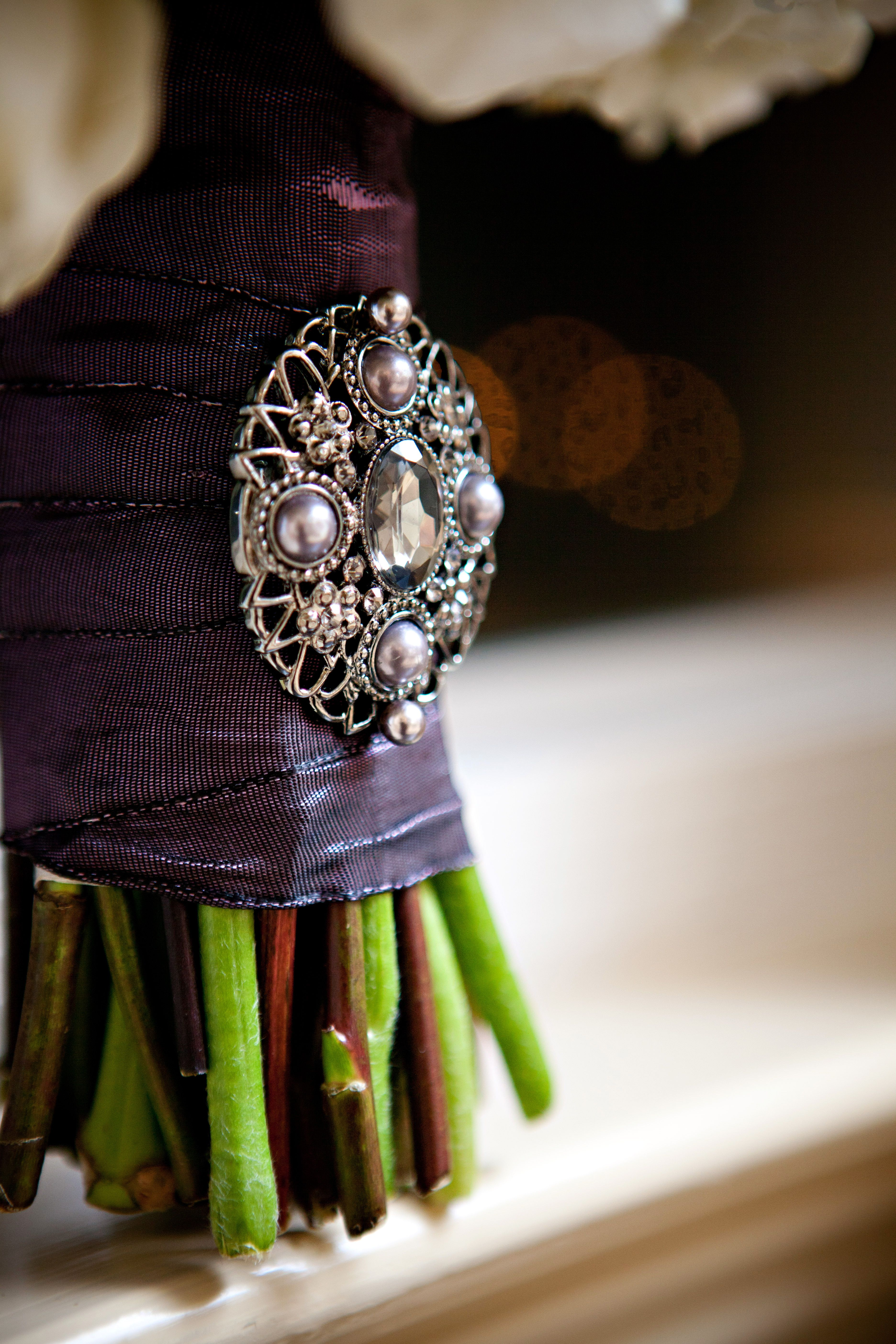My Brooch ...Bought it at Michael's and my florist attached it!