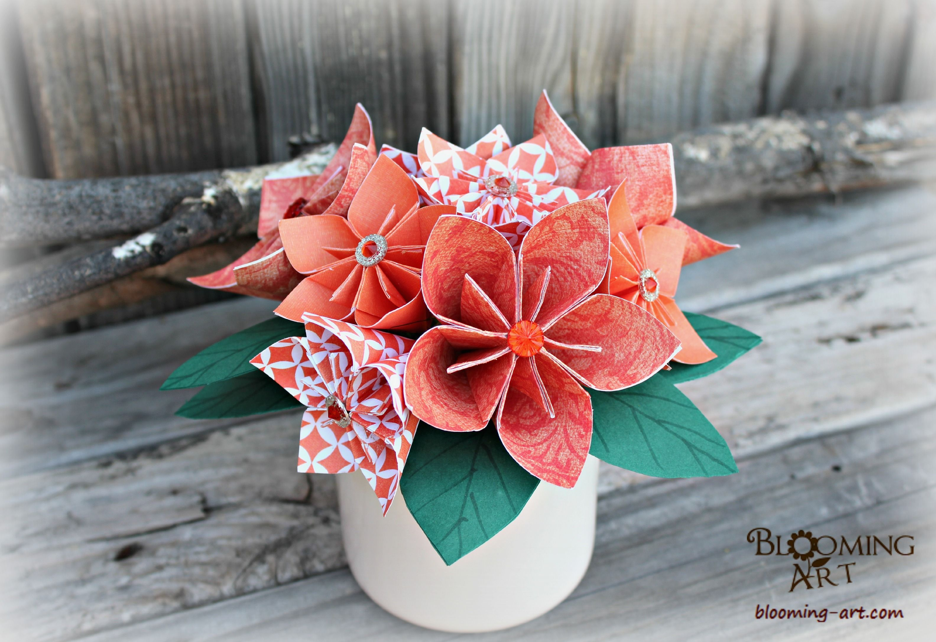Orange kusudama paper flowers dont want real flowers for your orange kusudama paper flowers dont want real flowers for your special event mightylinksfo