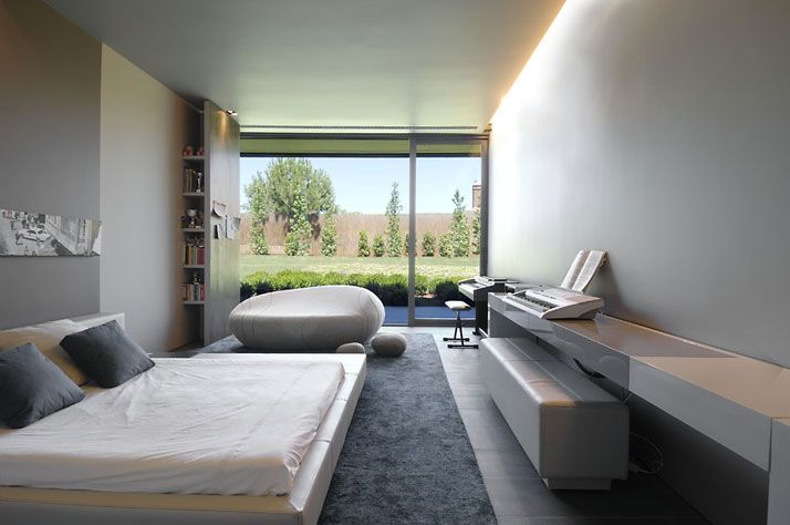 grey, white + concrete - bookshelf