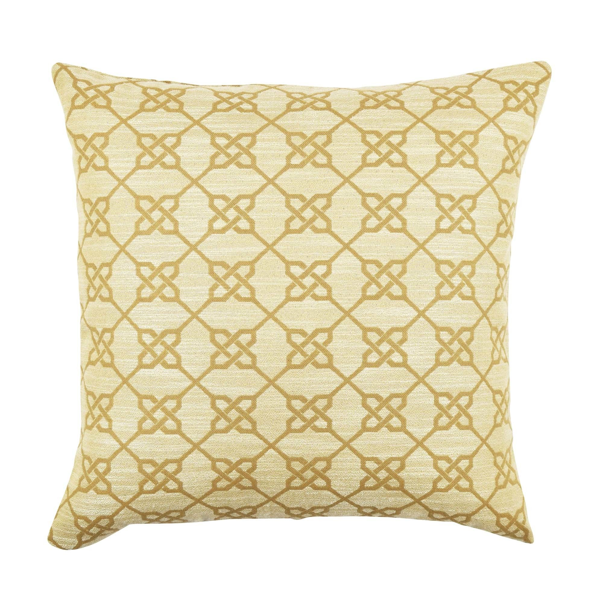 Ogee Pattern Cotton Throw Pillow