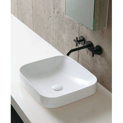 Ceramic Rectangular Vessel Bathroom