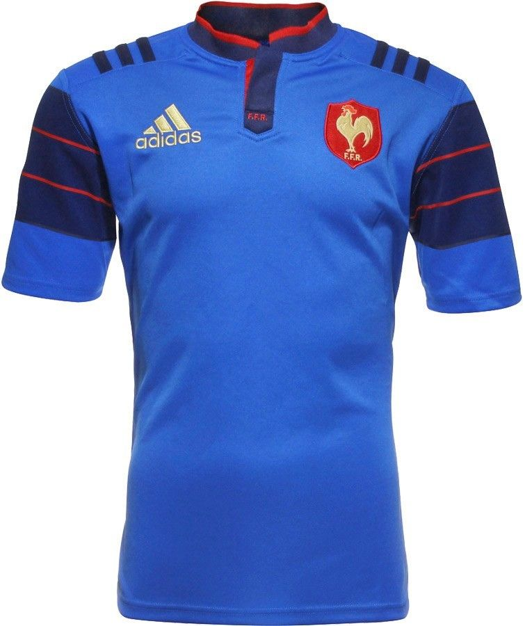 Maillot Rugby Xv De France Bleu 2015 16 Rugby Tshirt Ideas