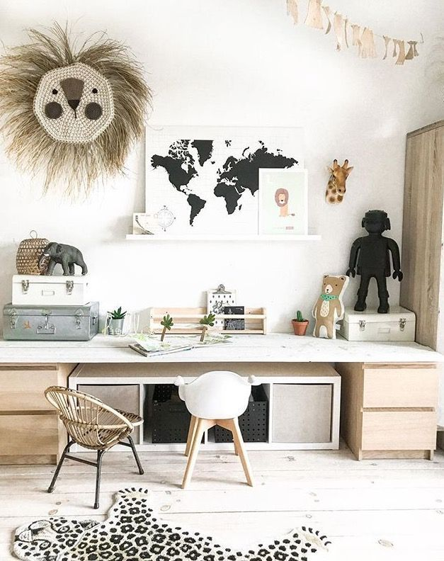 So many beautiful things all in one bedroom – natural kids bedroom #kidsbedroomsandthings