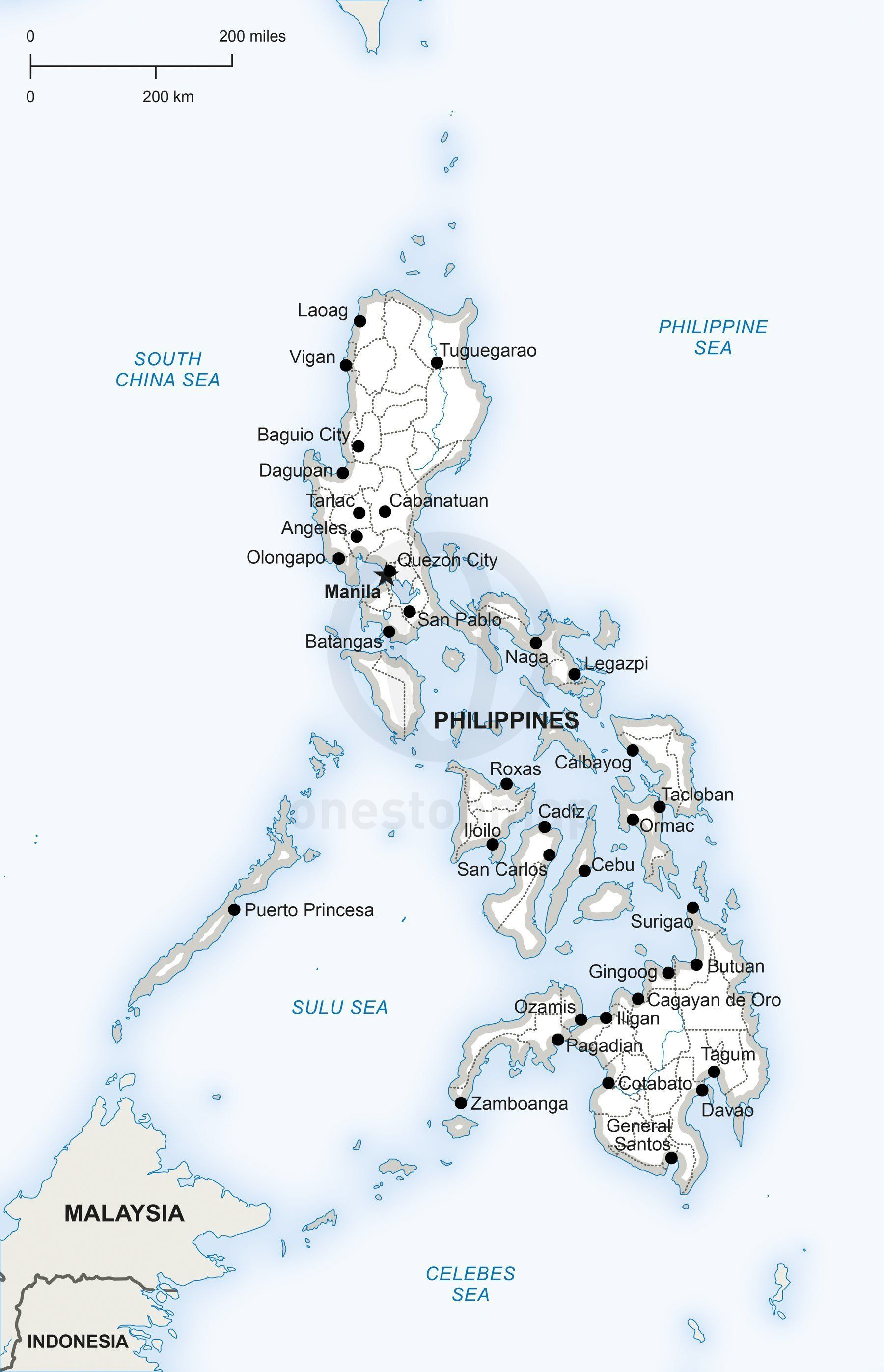 Vector Map Of Philippines Political Adobe Illustrator - Norway map eps