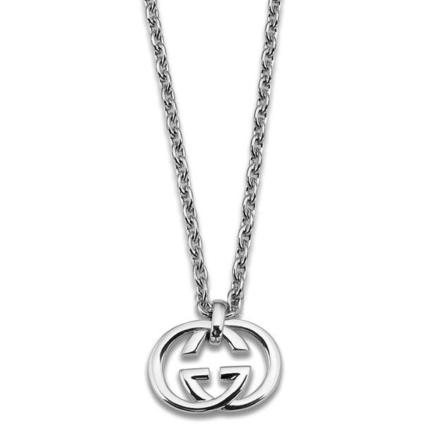 f48c63e9a6 Gucci Britt Silver Double G Drop Pendant (54,805 PHP) ❤ liked on ...