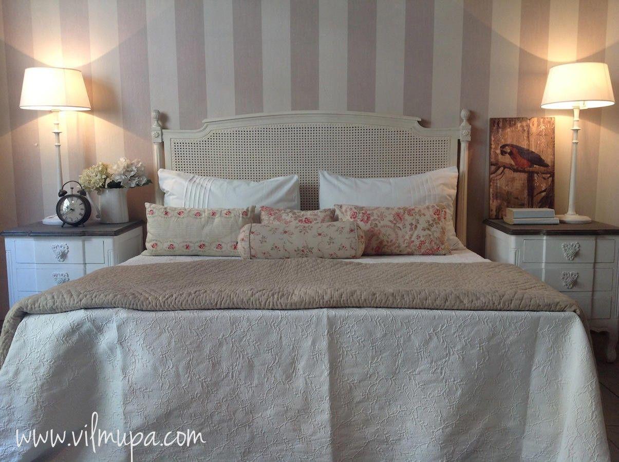 Cabecero cama rejilla francesa vilmupa bedrooms in 2019 papel pintado dormitorios cabeceras - Cabecero cama pintado ...