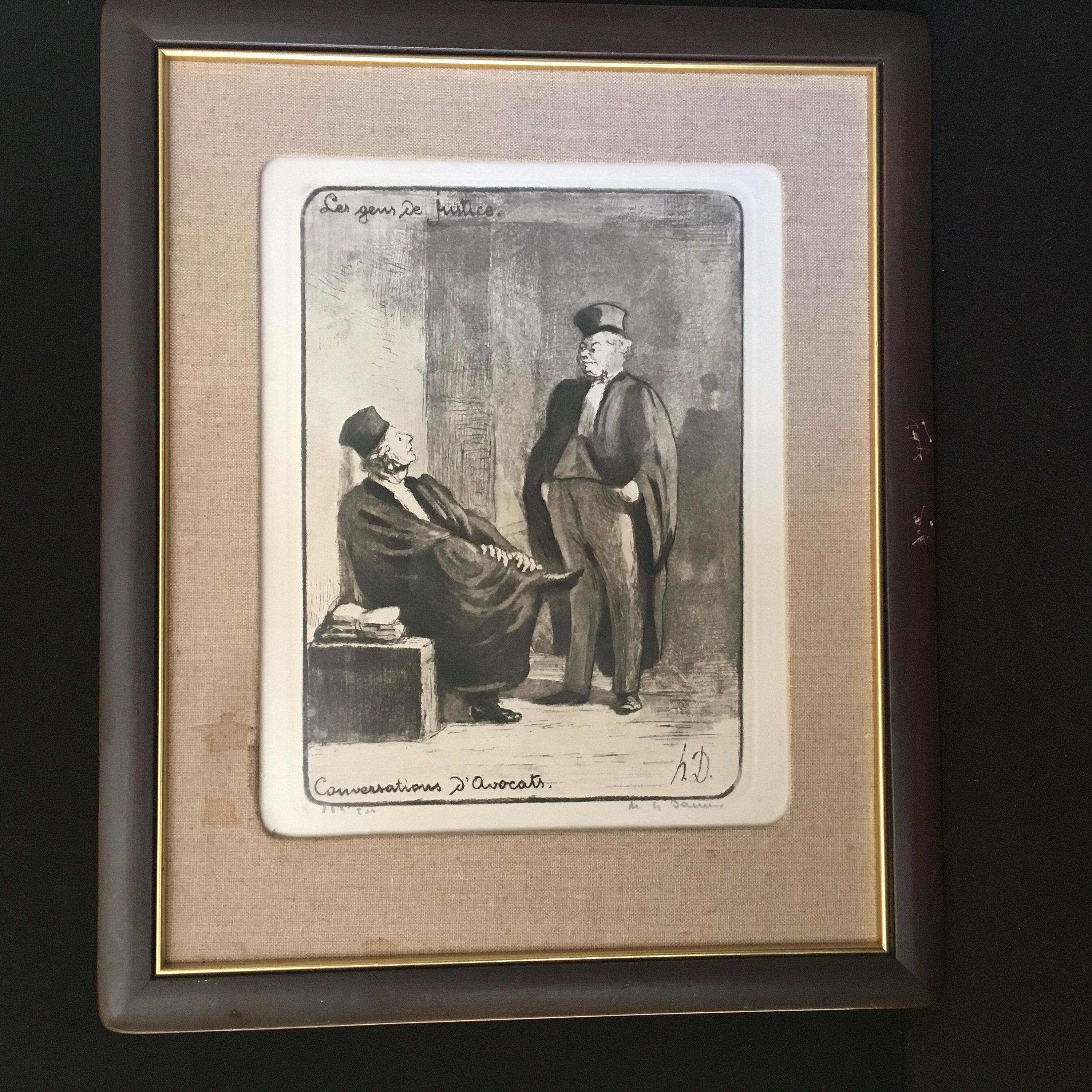 Honore Daumier France 1808 -1879 Lithograph A Respected
