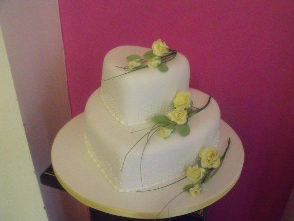 Hochzeitstag Kuchen Marmor Effekt Blau Torten Herz