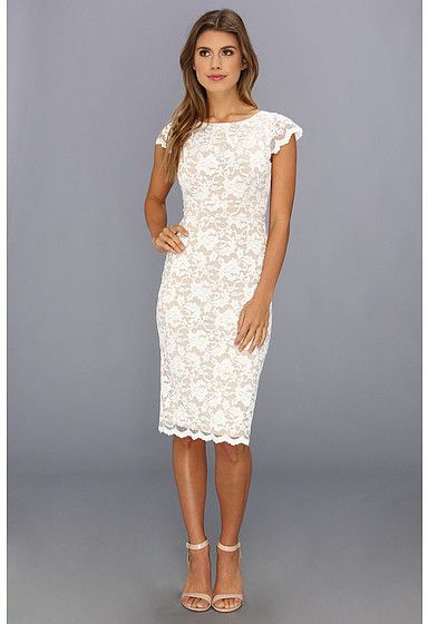 907b929628 ABS by Allen Schwartz Lace Dress With Exposed Back Zipper on shopstyle.com
