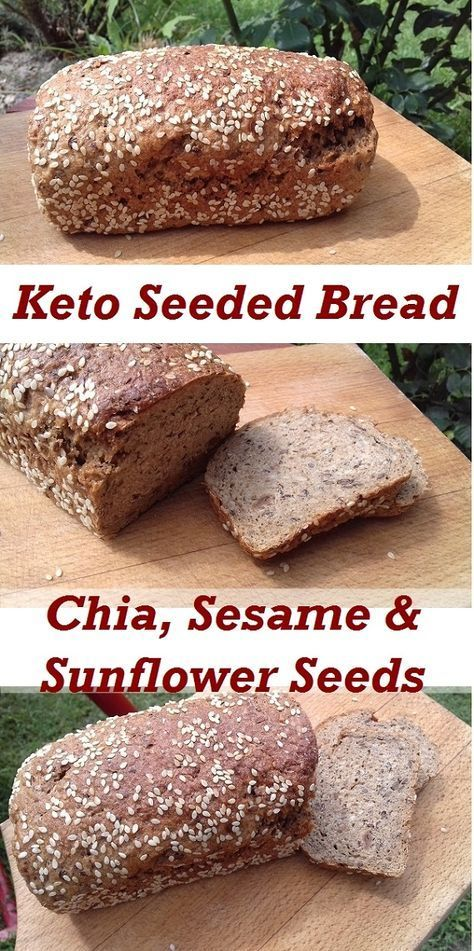 Keto Seeded Bread With Chia Sesame Sunflower Seeds Recipes