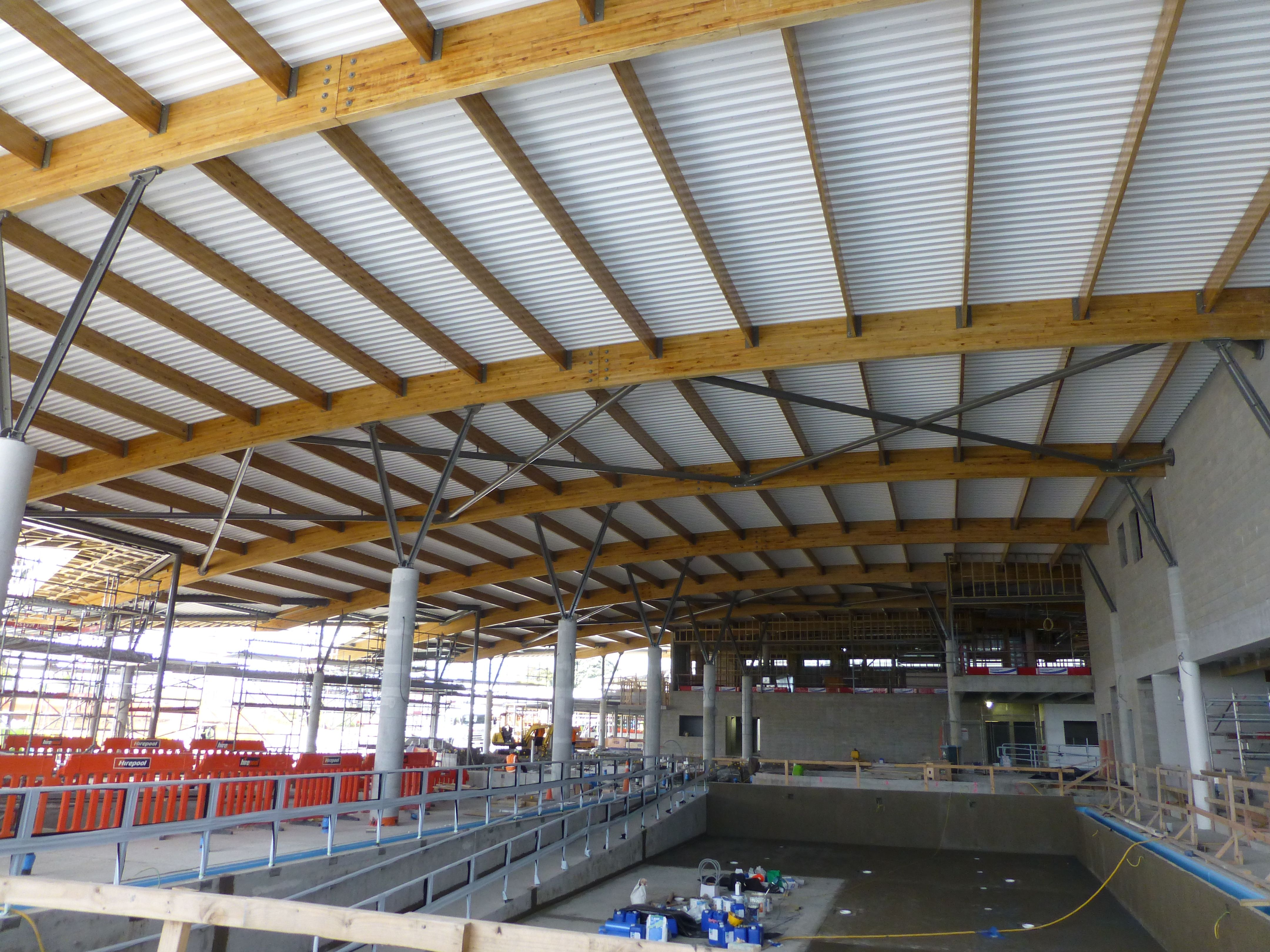 Otahuhu Recreation Centre Glulam Roof Rafters and Purlins & Otahuhu Recreation Centre Glulam Roof Rafters and Purlins ... memphite.com