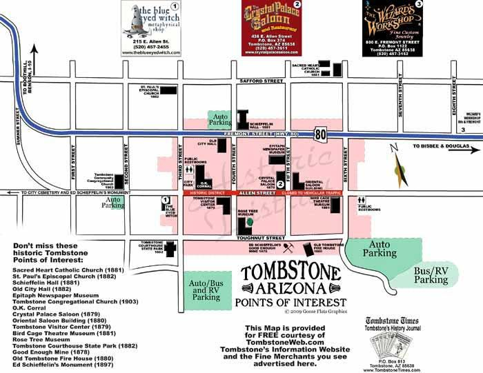 Tombstone Arizona Map | Tombstone arizona, Arizona road trip ...