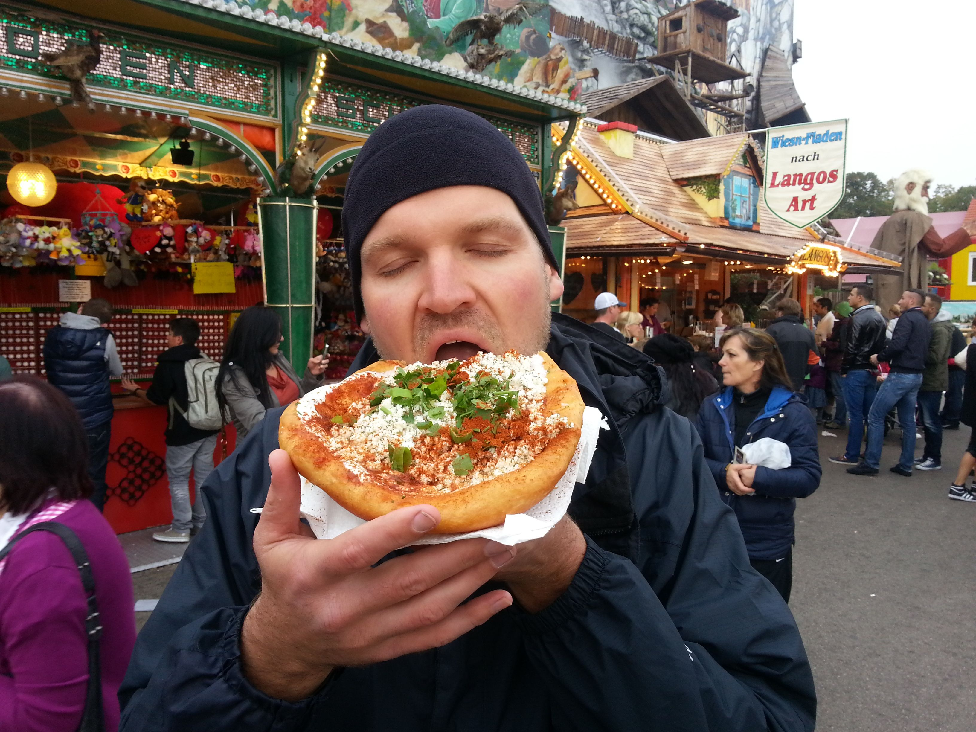 Who needs a spouse when the langos from Oktoberfest satisfies every sensation?