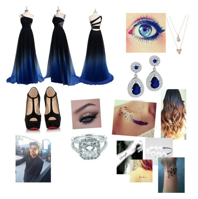 """""""Going to a party with Jack Gillinsky"""" by cmsvball19 on Polyvore featuring Bling Jewelry, Panacea, Christian Louboutin and Full Tilt"""